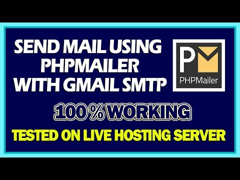 Send Mail Using PHP Mailer With Gmail SMTP | 100% Working PHPMailer Tutorial