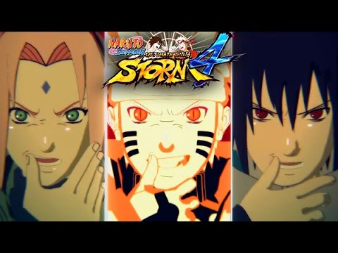 Naruto Shippuden Ultimate Ninja Storm 4 Story Mode Gameplay: Team 7 Reunites vs Ten Tails