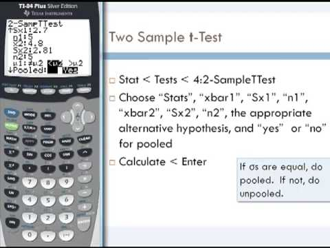Two Sample t-Tests and Confidence Intervals - YouTube