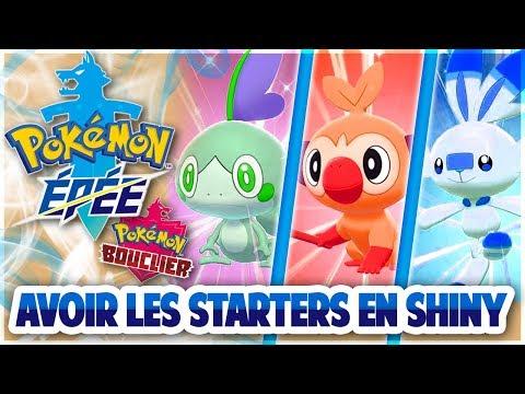 Pokemon Epée Bouclier : Avoir Les 3 Starters SHINY !