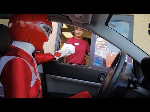 Red Ranger Drive Thru Prank