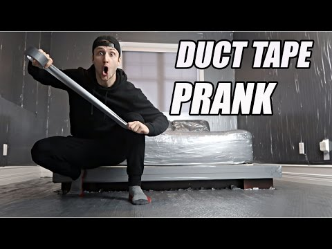INSANE DUCT TAPE ROOM PRANK! (200+ ROLLS)