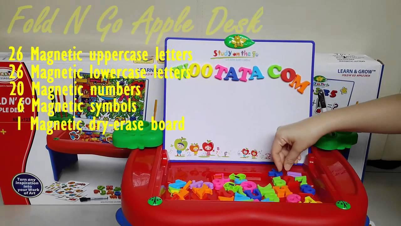 Mainan Edukatif Terlaris Anak Usia 3 Tahun Fold N Go Apple Desk