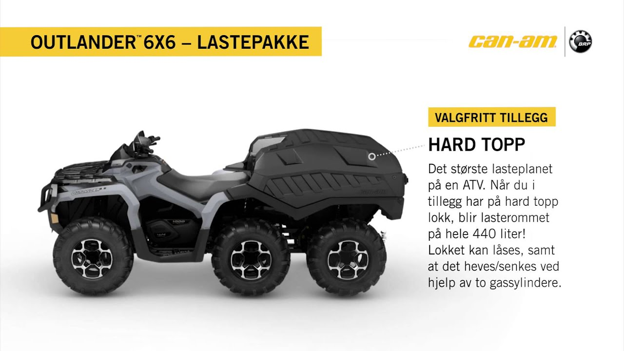 Brp Can Am >> Can-Am Outlander 6X6 1000 XT Lastepakke Norway - YouTube