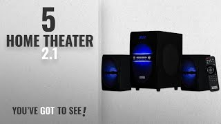 Top 5 Home Theater 2.1 [2018]: Acoustic Audio LED Bluetooth 2.1-Channel Home Theater Stereo System