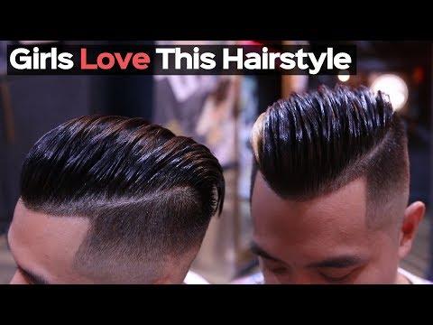 Mens Haircut 2018 - Straight Hair Men Slick Back Tutorial