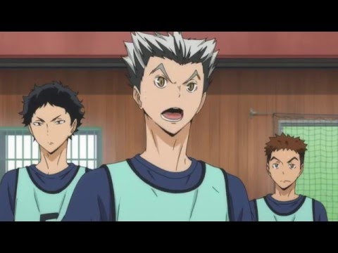haikyuu bokuto laugh scream and akaashi