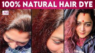 Homemade Hair Colouring By Kushboo Sundar | Hair Dye, Beetroot Hair Mask | Henna Paste, Natural Dye