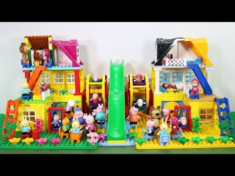 Peppa Pig Lego House With Water Slide Toys For Kids #6