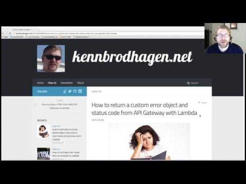 Return a custom error and status from API Gateway &Lambda