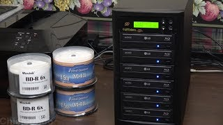 Copystars 1-to-5 Blu Ray/DVD/CD Duplicator Review/Tutorial