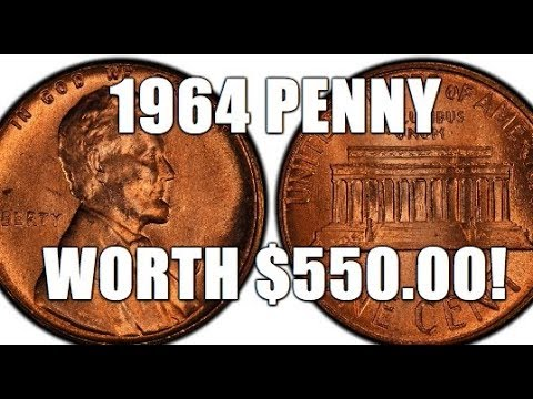 1964 Penny Worth $550 00!!! Rare & Valuable Lincoln Cent Worth Big Bucks!