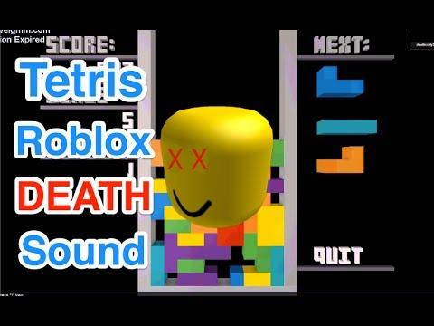 Tetris Theme With Roblox Death Sound Youtube