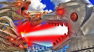 MECHAGODZILLA vs KING GHIDORAH in GTA 5 (Mods)