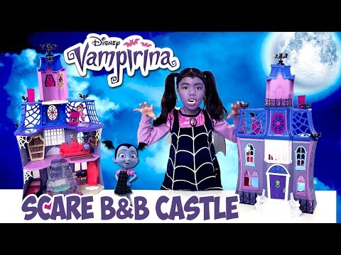 Vampirina Makeup Tutorial Scare B & B Castle House Tour Disney Jr