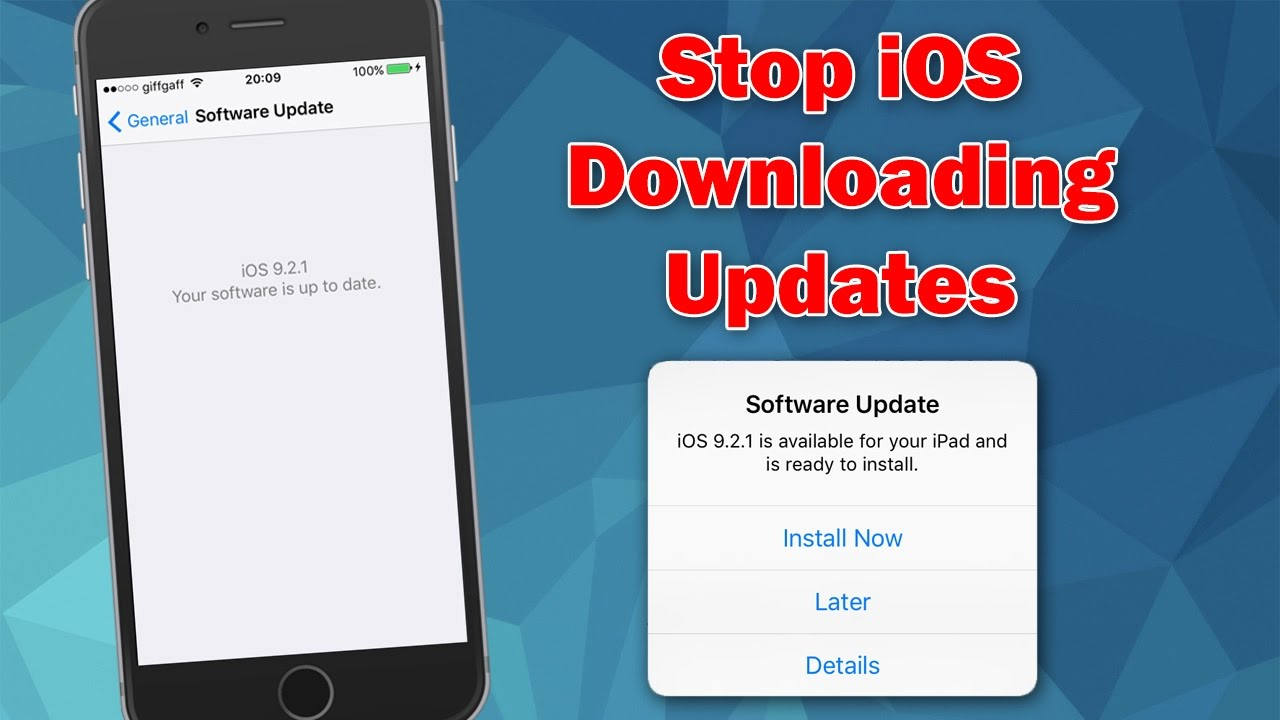 How to stop iphone from automatically downloading ios updates