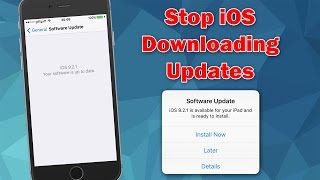 How to Stop iOS Automatically Downloading Software Updates on iPhone, iPod touch & iPad
