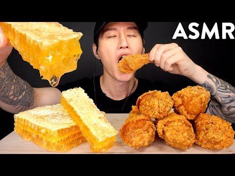 ASMR HONEYCOMB & POPEYES FRIED CHICKEN MUKBANG (No Talking) EATING SOUNDS | Zach Choi ASMR