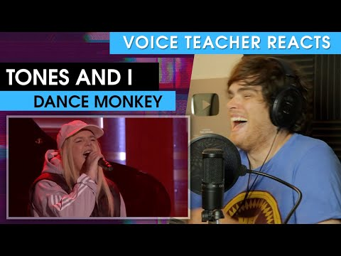 Tones And I: Dance Monkey | Voice Teacher Reacts