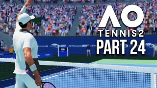 AO TENNIS 2 Career Mode Part 24 - THIS GAME MIGHT BREAK ME