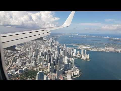 GORGEOUS MIAMI APPROACH | American Airlines B757 Landing At MIA