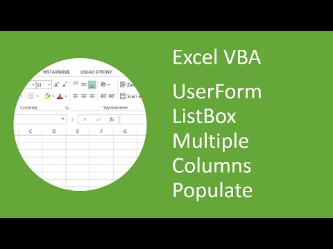 Excel VBA UserForm ListBox with Multiple Columns Populate (List Property)