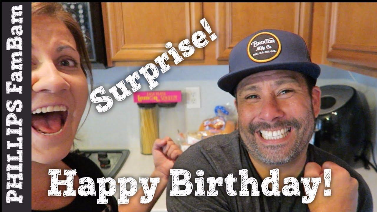 Wife Surprises Husband On 40th Birthday Kids Secret Birthday