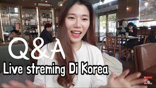 Tante Niniony perkenalan diri Lagi Di Korea starbucks Q&A |Orang korea