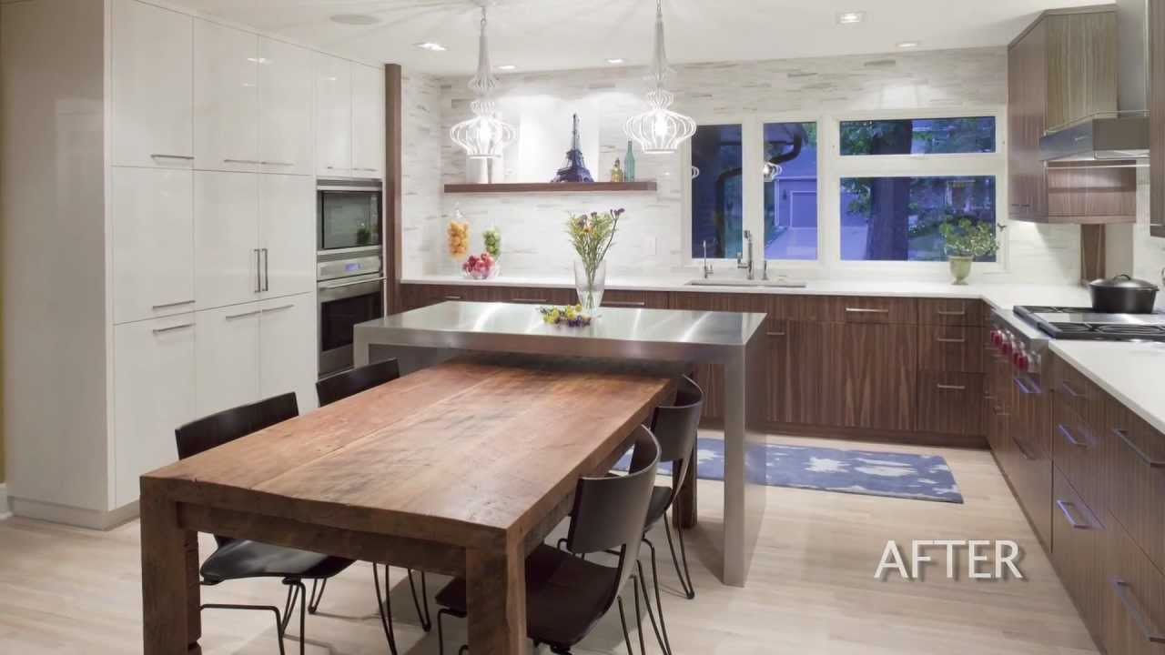 Kitchen Design - Remodel of a 1960\'s house creates a well ...