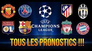 TOUS LES PRONOSTICS 8EME LIGUE DES CHAMPIONS / LYON VS BARCA, ATLETICO-JUVE, MANCHESTER VS PSG