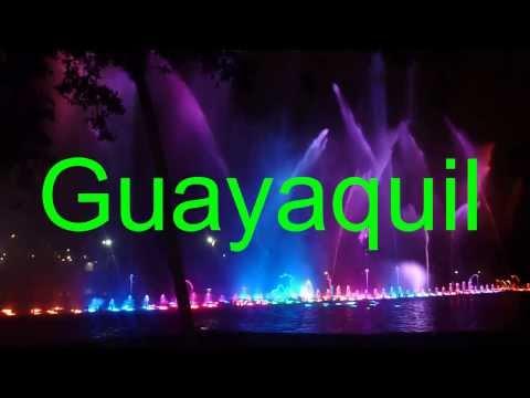 Guayaquil turistico, fuente de luces-  guayaquil tourist