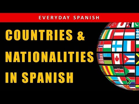 Country Names In Spanish | Nationalities In Spanish  🌐🗺️