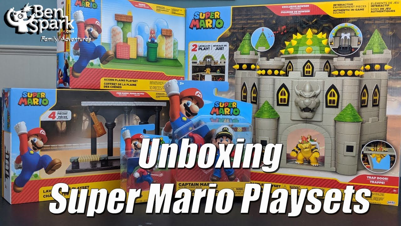 Super Mario Deluxe Bowser S Castle Playset World Of Nintendo Toys Unboxing