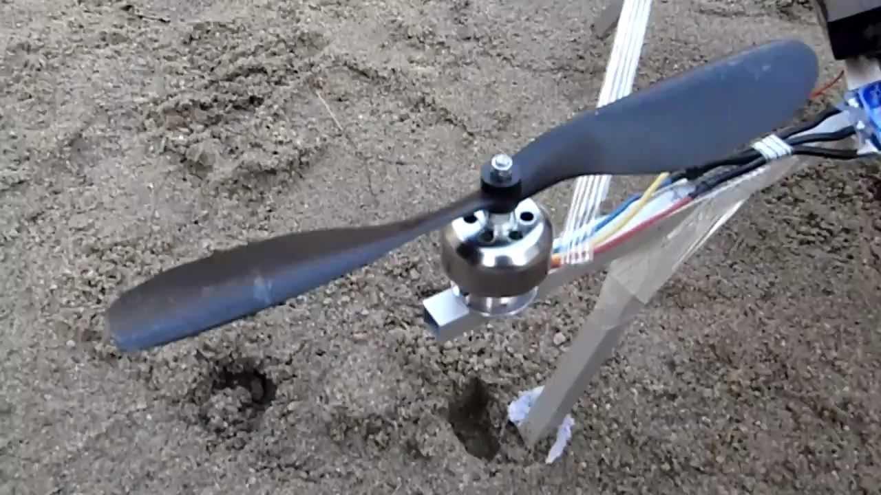 Homemade Quadrocopter Aluminium Frame - YouTube