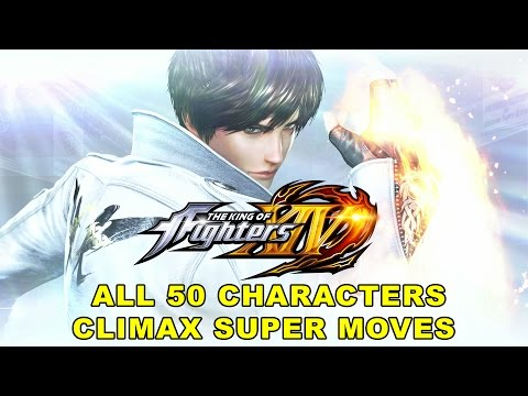 The King of Fighters XIV - All 50 Characters Climax Super Moves