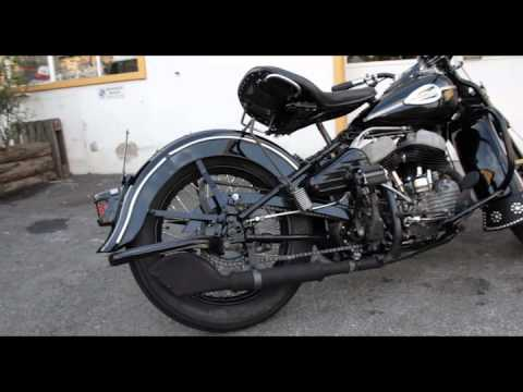39 43 wl 45 harley davidson flathead kick start youtube. Black Bedroom Furniture Sets. Home Design Ideas