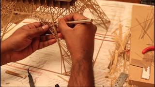Making of Eiffel Tower with Bamboo Sticks - Bamboo Eiffel Tower