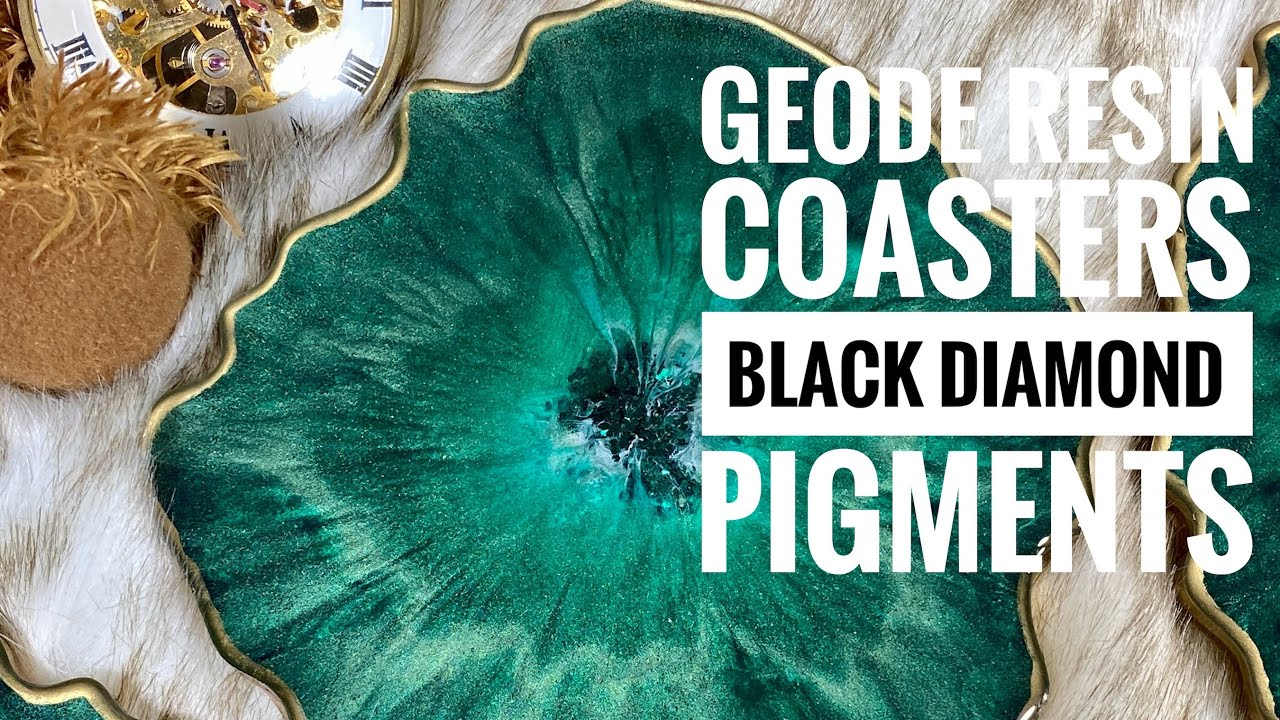 Making Geode Resin Coasters with Black Diamond Pigments