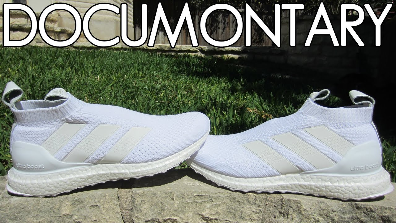 buy popular 87c26 abc99 adidas A16+ Purecontrol Ultra BOOST Triple White • Review  On-Feet +  Sneakerboard  DOCUMONTARY