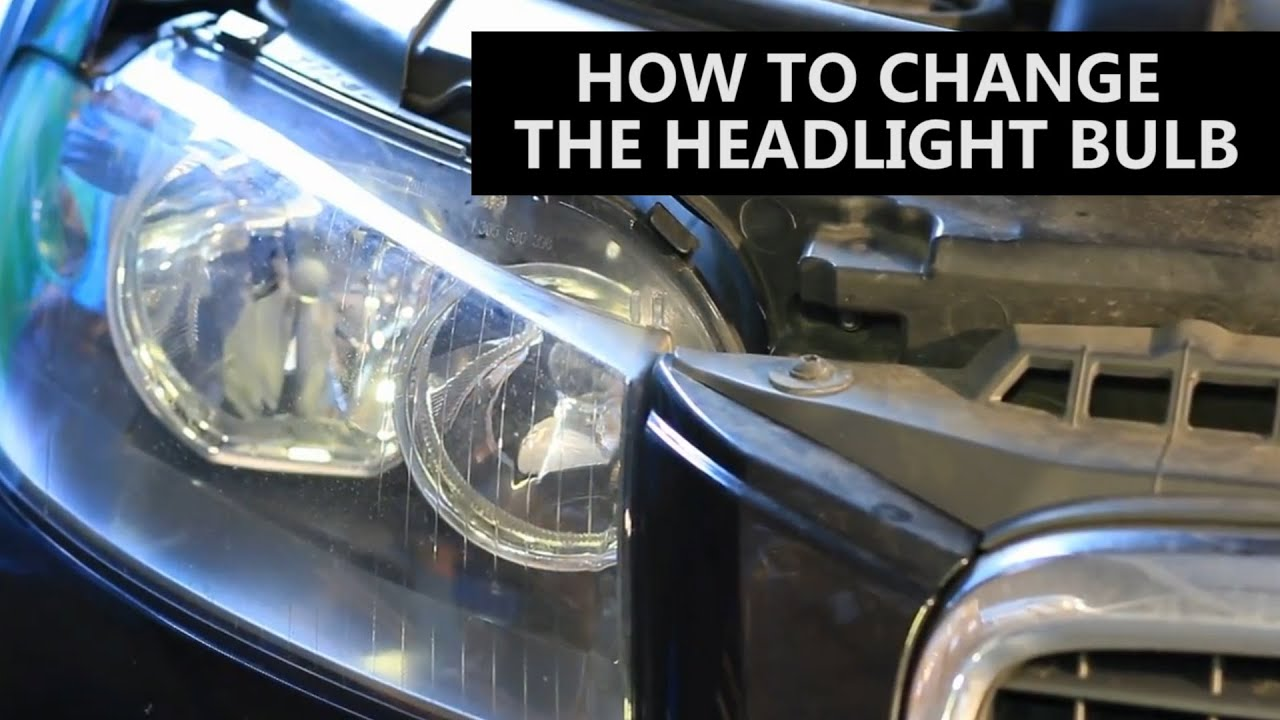 how to change a car headlight bulb youtube