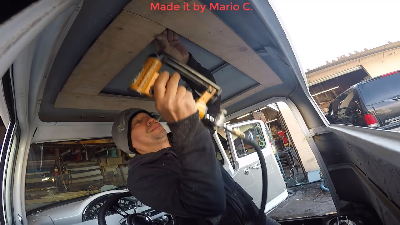 How To Make A Ford F100 Custom Headliner By Meca Youtube