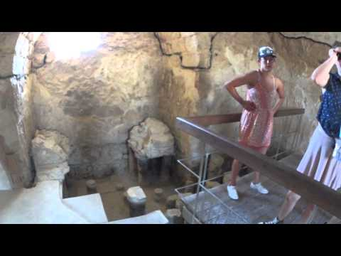 Masada -  The large Roman bath house which was built by King Herod the Great