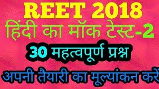 REET 2018 Hindi Mock test