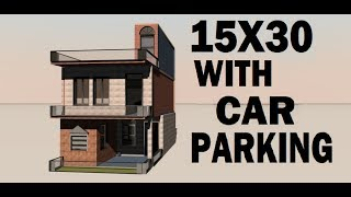 15X30 with car parking!!! house designe by build your dream house