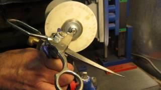 Станок для заточки ножниц своими руками.