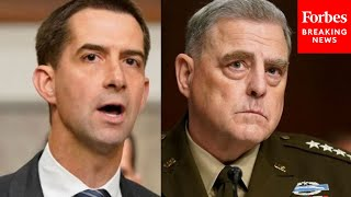 'Why Haven't You Resigned?': Tom Cotton Slams Mark Milley To His Face Over Afghanistan