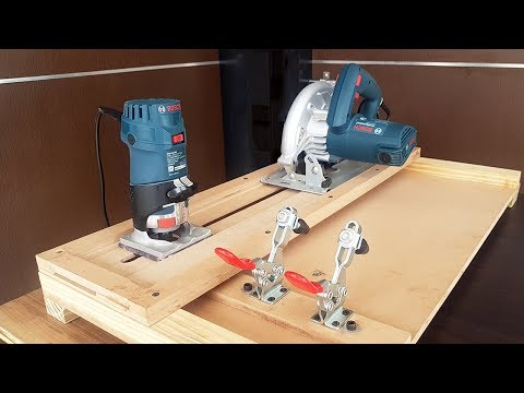 How to Make 2 in 1 Circular Saw Cross Cut  and Router Jig