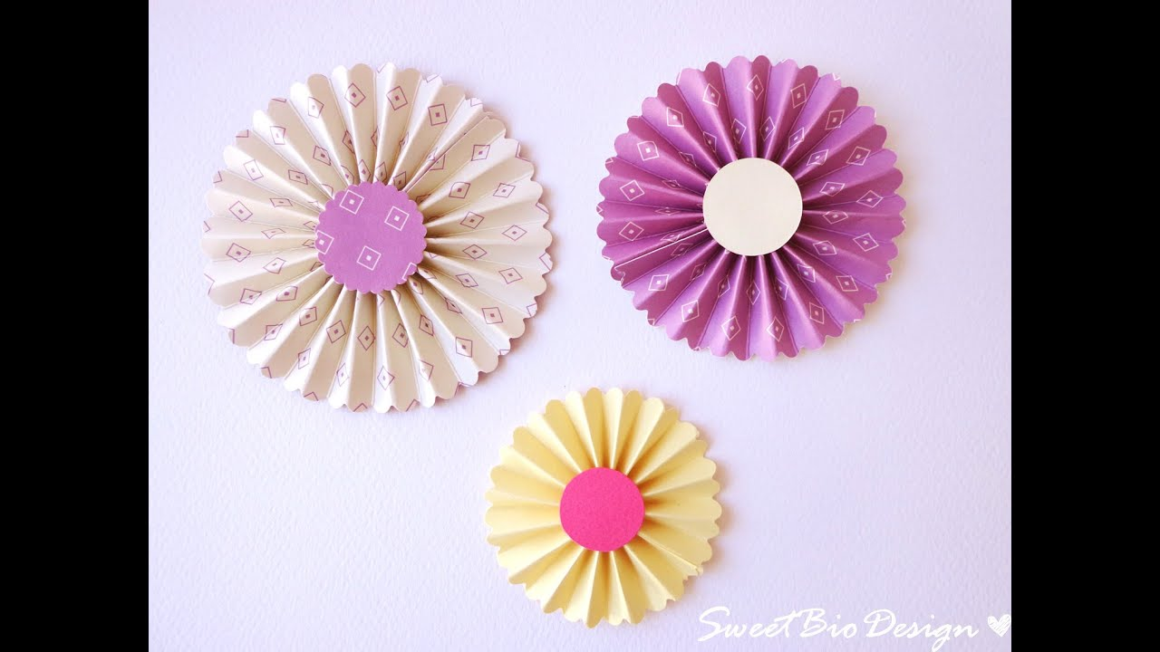 abbastanza Tutorial: Coccarde di carta - DIY Rosette - YouTube HL83