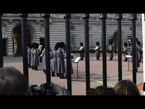 Changing the Guard, performing James Bond theme song
