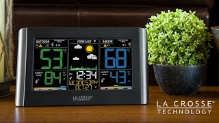 new 2016 wireless color weather station